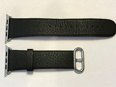 Genuine Apple Watch Classic Leather 42mm Strap Black