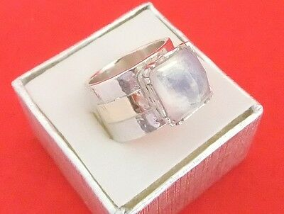 Vintage 925 Sterling Silver Moonstone Ring