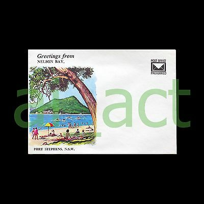 """Vintage Australian c1960s """"Greetings from Nelson Bay"""" envelope - not posted"""