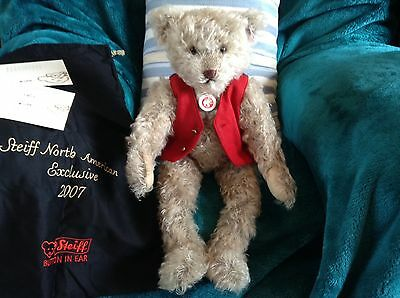 Steiff Bears RUDI, NORTH AMERICAN EXCLUSIVE Mohair Limited Edition