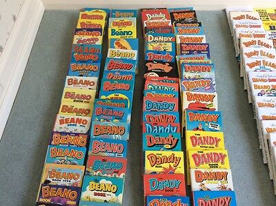 240 Vintage Assorted Annuals Beano's,dandy,dennis The Menace,victor, Topper,