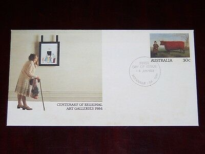 AUSTRALIAN decimal FIRST DAY COVER - Centenary of Regional Art Galleries - 1984