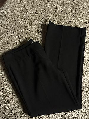 Ladies Smart Black Broach Detail trousers Size 12 L28