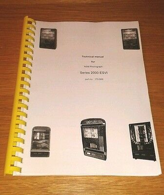 NSM ES6 cd jukebox manual. Lightning 2000.  Country classic. Tradition.etc  ESVI