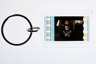 Alice in Wonderland Johnny Depp - 35mm Film Cell Key Ring, Keyfob Gift
