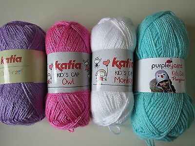Crochet kit for baby blanket - pink, lilac and turquoise