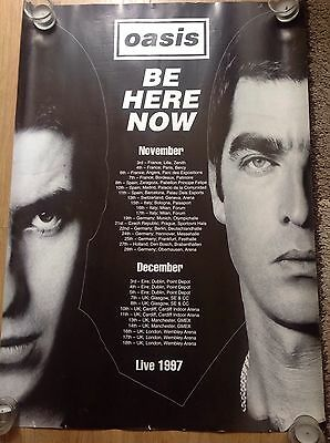 oasis promo poster,Be Here Now Tour Live 1997.Very Rare.
