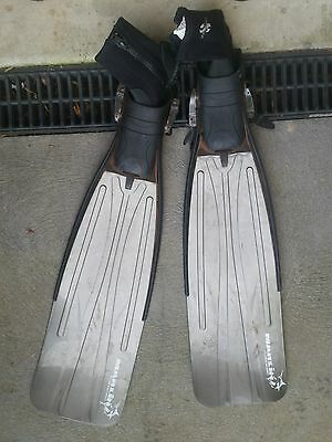 mirage freediving fins with booties spearfishing scuba