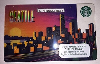Starbucks Seattle City Card 2017 Limited Edition.