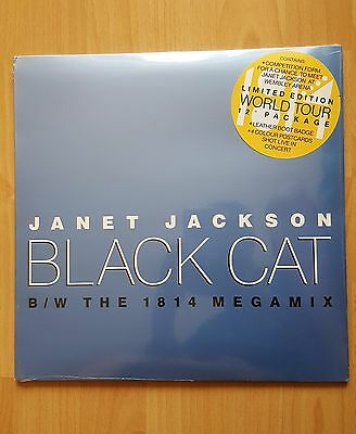 """Janet Jackson Black Cat 12"""" Vinyl Limited Edition With Postcards * New & Sealed"""