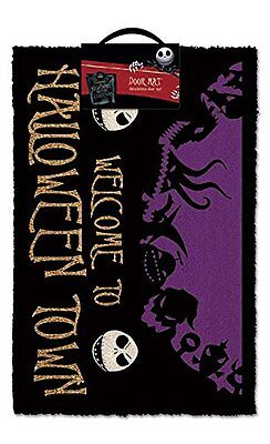 "Nightmare Before Christmas ""Halloween Town"" Doormat, Multi-Colour"