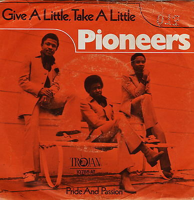 "PIONEERS 7"" poduced by JIMMY CLIFF 1971 TROJAN-Rec. 'Give A Little' SKA/REGGAE"