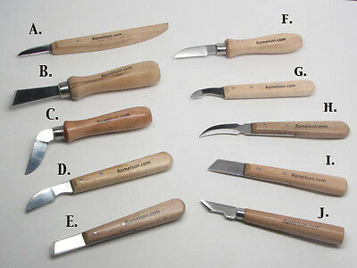 Ramelson Wood Carving Tools Hand Wood Knife Whittling Bench Individual Sizes