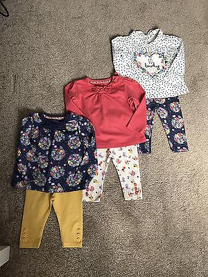 Baby Girls Leggings And Top Set 3-6 Months