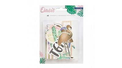 Crate Paper Oasis Ephemera Die Cuts Scrapbooking Craft, Card Making, Planner