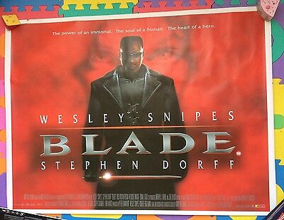 Blade - Original Uk Quad Cinema Poster Rolled Snipes