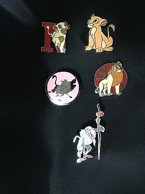 COLLECTION OF 5 WALT DISNEY  Lion King COLLECTORS PINS