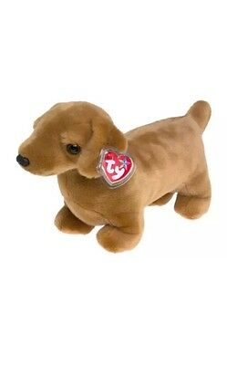 Authentic Beanie Buddy Weenie With Tag Protector