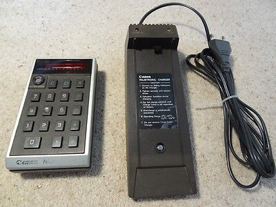 Vintage Canon Palmtronic LE-10 calculator and charger