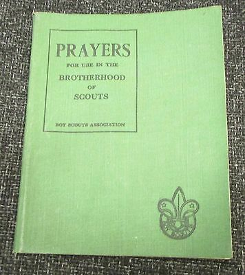 WW2 1943 Christian Prayers for use in the Brotherhood of Scouts Booklet
