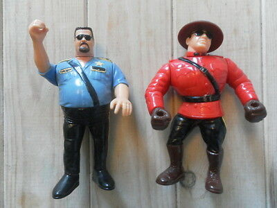 WWF WWE Hasbro x 2 wrestling rivalries figures The Mountie & The Big Bossman