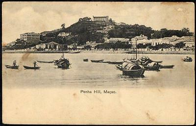 CHINA - Vintage Postcard - Penha Hill, Macau - View From the Water