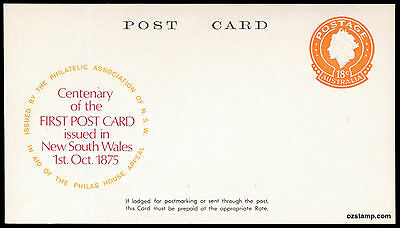 1975 New South Wales Postcard Specimen Postal Stationery Stamps Australia