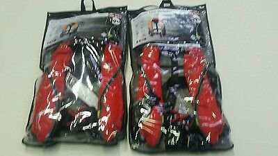 2 X KRU SPORT 185 Lifejackets with Automatic Inflation and Harness - RED