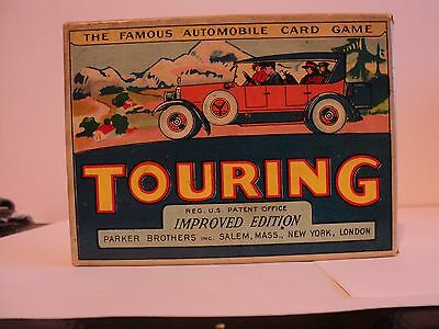 Vintage Parker Brothers Card Game Touring W/Box