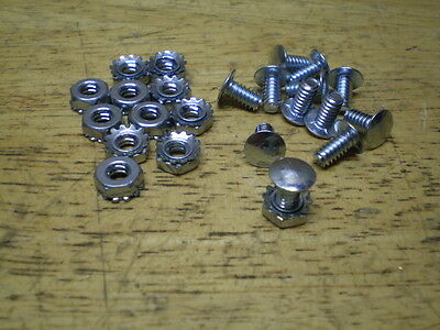 12 Vintage Bicycle Fender & Chainguard Bolt On Flat Head Rivet Original Style