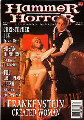Marvel magazine Hammer Horror Issue 5 - Cushing Lee Frankenstein Created Woman