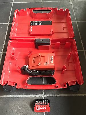 Hilti Battery Charger,case,battery And Free Bit Set