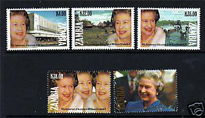 Zambia 1992 Queen's 40th Anniv Accession SG687/91 MNH