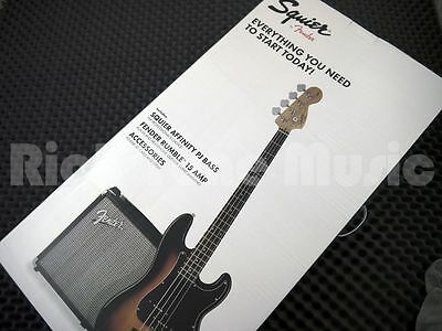 Squier by Fender PJ Bass Guitar Starter Pack - Brown Sunburst