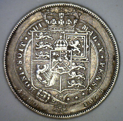 1825 UK Silver 6 Pence Sixpence Great Britain UK Tanner Coin XF