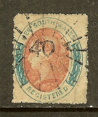 New South Wales, Scott #F3, 6p Registration Stamp, Used