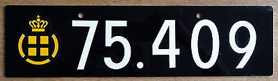 Genuine DENMARK ARMY license plate 75 409 Danish Defense Force TOUGH Military 1