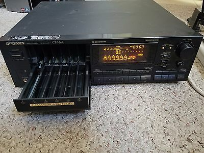 PIONEER CT-M6R Multi-Cassette Changer Player/Recorder 6 Tape Multi Player