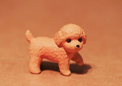 Dollhouse Miniature Fairy Garden Pet - Dog / Puppy - Toy Poodle Brown 3.5cm