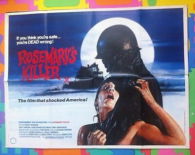 Rosemary's Killer Original Uk Cinema Quad Poster - Zito/savini Sale Reduced !