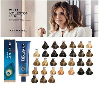 Wella Koleston Perfect Permanent Professional Hair Color 60 ml - PURE NATURALS