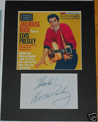 Elvis Presley signed mounted autograph 8x6 photo print display   #A4