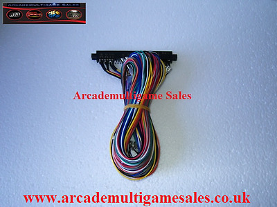Jamma Harness Wired For 6 Buttons Per Player wired for voltages (+5, -5,+12,GND)