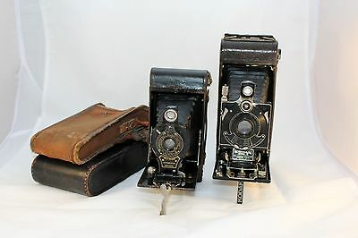 No.2 Folding Autographic Brownie & No.1A Pocket Kodak Series III *Ornamental Use