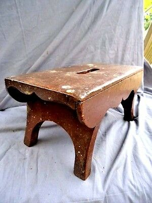 Victorian   Antique  Primitive Small Plank Stool