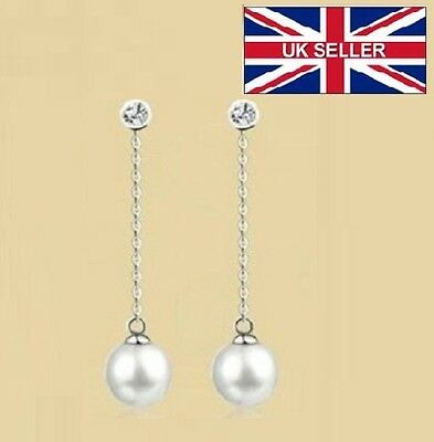 Korean style long earrings, Simulated pearl stud High-Quality, brincos pendants