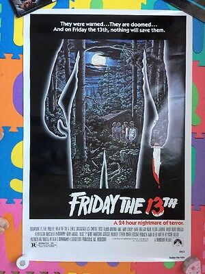 Friday The 13Th - Us One Sheet Paramount 1980 Savini Jason Voorhees Not Nss