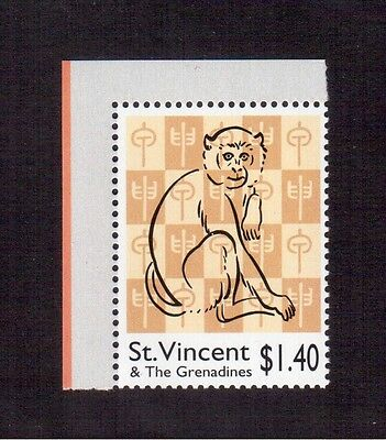 St. Vincent & The Grenadines 2004 #3186 Vf Nh, Year Of The Monkey !!