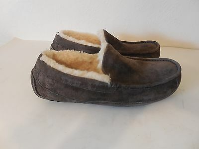 Sz.6 Ugg Mens  Ascot - Suede Sheepskin Slippers 5775 Grey Charcoal