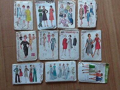 Sewing patterns from the 1950s, 1960s, 1970s - vintage ladies